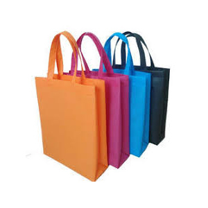 Multi-Coloured Non Woven Loop Handle Bag
