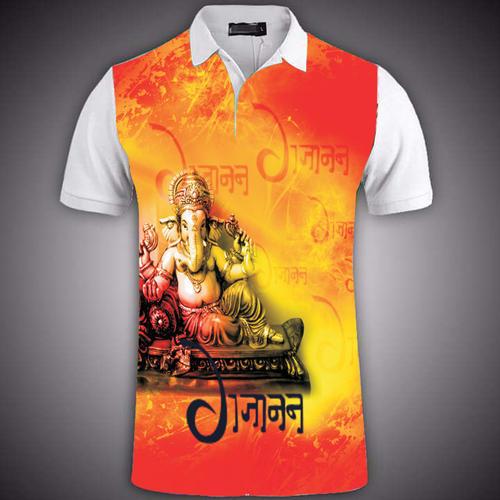 Mens Ganpati Design T Shirt Printing Service