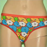 Flower Print Ladies Panties