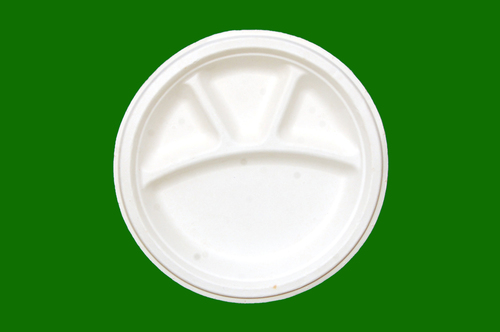 Sugarcane Bagasse Round 4 Compartment  10inch