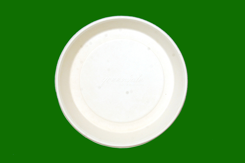 Sugarcane Bagasse Round Deep Plate 8inch