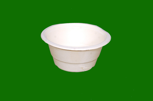 Sugarcane Bagasse Round Deep Bowl 340 ML Bowl