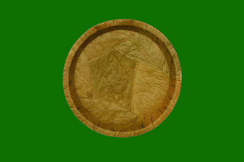 Bahunia Leaf Round Deep Plate 10inch