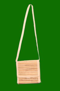 Banana Fiber Bag with Long Handle 6.5 x 11.5