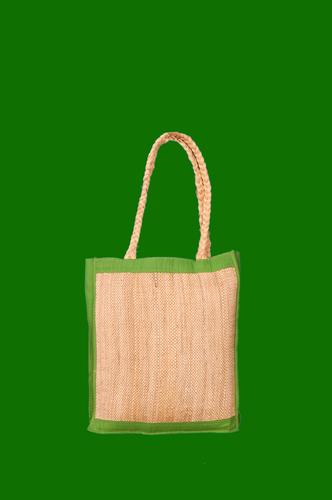 Banana Fiber Ladies Hand Bag with Natural Handmade Handle 12.5 x 14.5