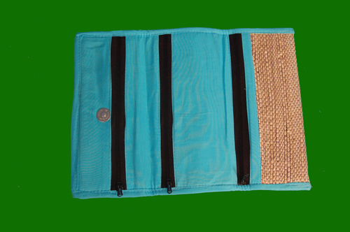 Banana Fiber Ladies Purse 3 Compartment 8.5 x 11.5