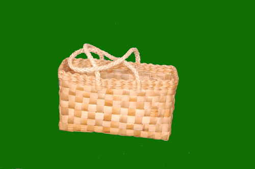 Banana Fiber Shopping Basket with Handle 15 x 8.5
