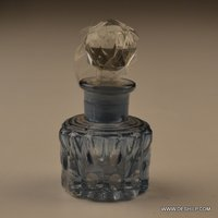SMALL AND ANTIQUE CUT GLASS DECANTER