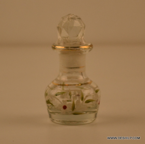 VERY SMALL GLASS PERFUME DECANTER