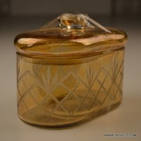 YELLOW COLOR OPAL GLASS JAR