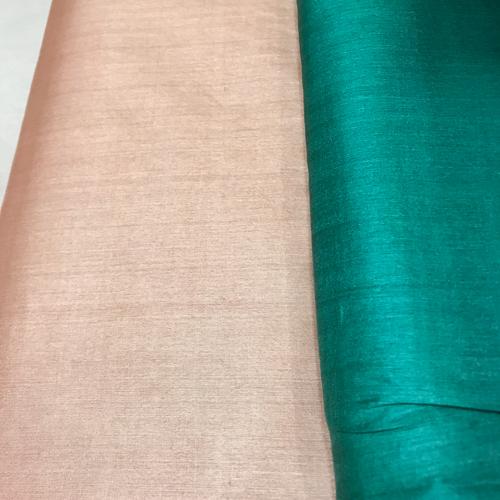 Beige Pure Tussar Silk Running Fabric