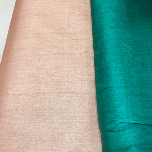 Beige Pure Tussar Silk Running Fabric