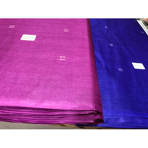 Pink Pure Tussar Silk Running Fabric