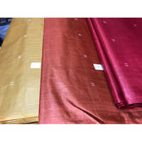 Pure tussar (kosa) silk booti weaved running fabric