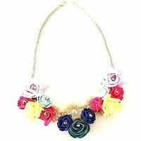 Beautiful Designer Multicolor Flower Necklace for Women & Girls