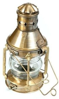 Antique Marine Ship-Lantern Boat Light Anchor-Lamp Cargo Ship Oil Kerosene Lamp