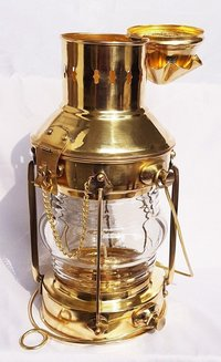 Antique Brass Oil Lamp Maritime Ship Lantern-Anchor Boat Light Nautical Lamps