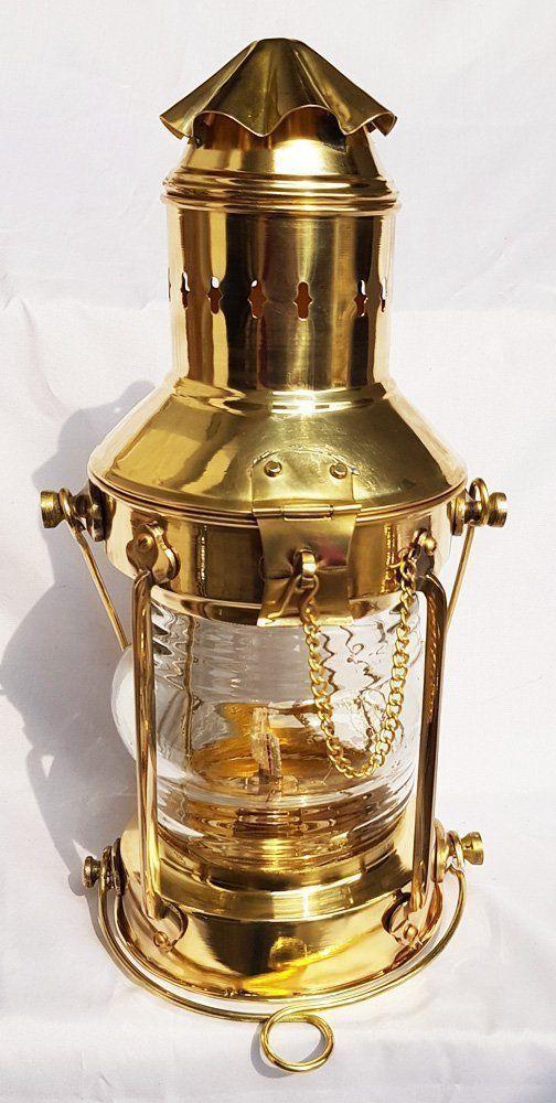 Antique Brass Oil Lamp Maritime Ship Lantern-Anchor Boat Light Nautical Lamps
