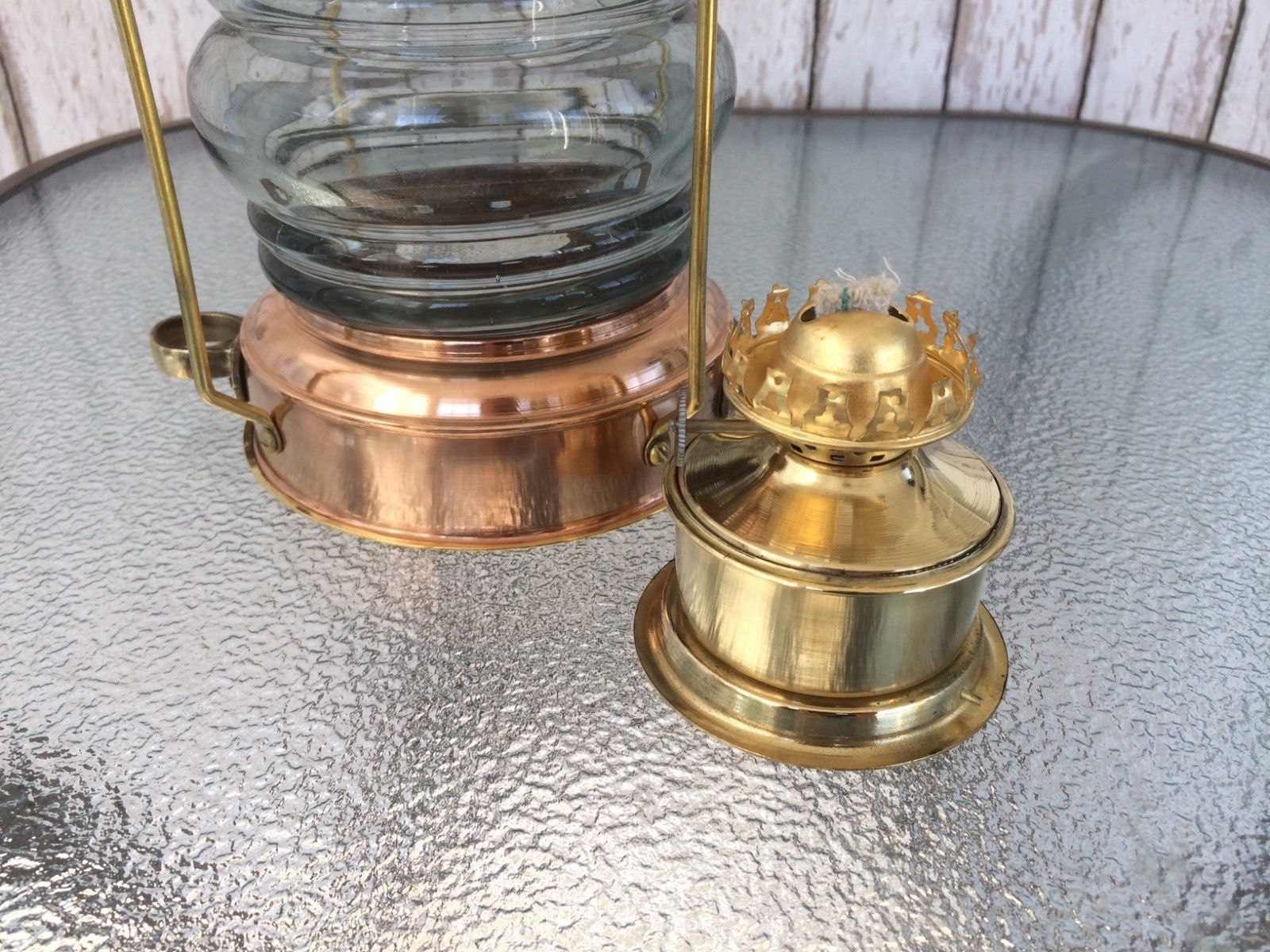 Brass & Copper Anchor Oil Lamp Nautical-Maritime Ship Lantern Boat Light