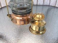 Brass & Copper Anchor Oil Lamp Nautical-Maritime Ship Lantern Boat Light