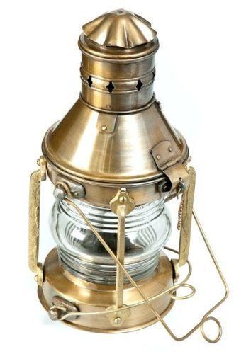 Antique Marine Ship Lantern Boat Light Anchor-Lamp Cargo Ship Oil Kerosene Lamp