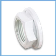MALE TANK FITTING WHITE BACK NUT
