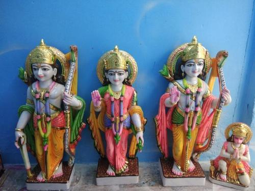 Ram Darbar Marble Family with Hanuman