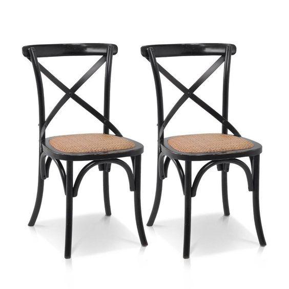 Cross Back Arm Chair