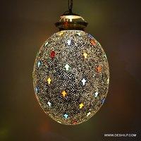 GLASS BLACK MOSAIC WALL HANGING LAMP