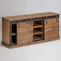 Console with Reclaim Wood