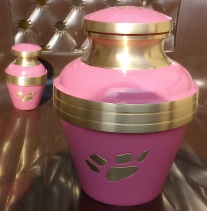 Pink Paw Print Urn