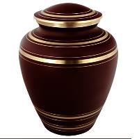 Elite Garnet Red Brass Cremation Urn