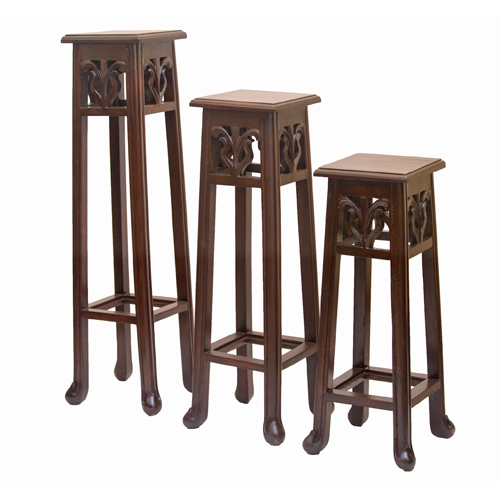Carved Stool Set