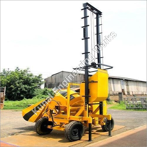 Concrete Mixer Lift Machine With Hopper