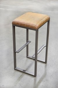 Industrial Bar Stool with Square Seat
