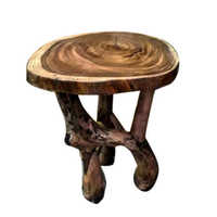 Rustic Round Wooden Stool
