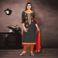 Chanderi Unstitched Salwar Suit