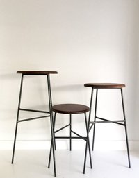 Bar Stool with 3 Wooden Legs