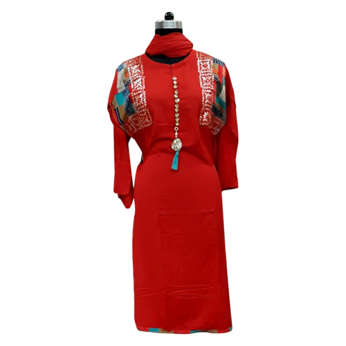 Red Ladies Cotton Suits