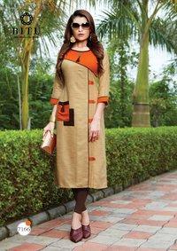 Bitu Designer Rayon Khadi Kurtis