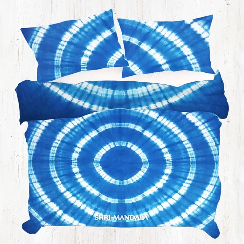 Blue Shibori Tie Dye Mandala Duvet Cover Set Queen Quilt Cover Set