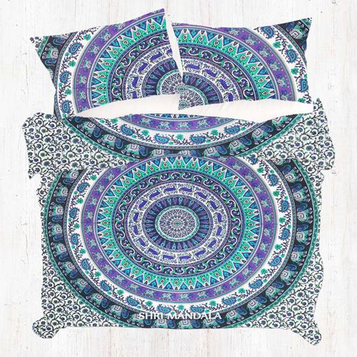 Twin Single Mandala Duvet Cover Set