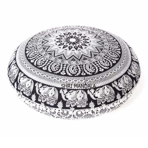 Mandala Round Floor Pillow Cushion Covers
