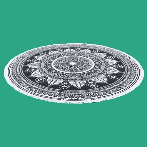 Round Mandala Tapestry Beach Throw