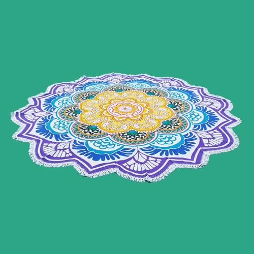 Round Mandala Tapestry Beach Throw