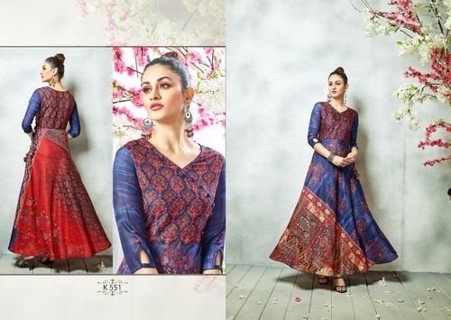 Eternal Blue Silk Gown