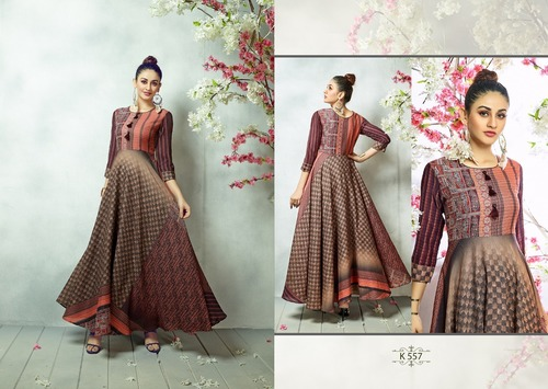 Eternal Brown Silk Gown