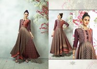 Eternal Brown Silk Gown
