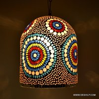 ANTIQUE DESIGN AND DECOR GLASS WALL HANGING