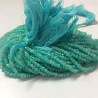 Natural Amazonite Faceted Rondelle Beads Strand